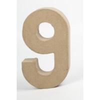 Papier-maché cijfer | 9 | Groot