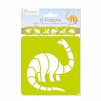 Sjablonen | Dinosaurussen | 15 x 15 cm | 6 assorti