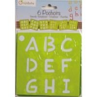 Sjablonen | Alfabet | 15 x 15 cm | 6 assorti