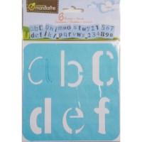 Sjablonen | Creatief alfabet | 15 x 15 cm | 6 assorti