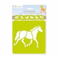 Sjablonen   Paarden   15 x 15 cm   6 assorti