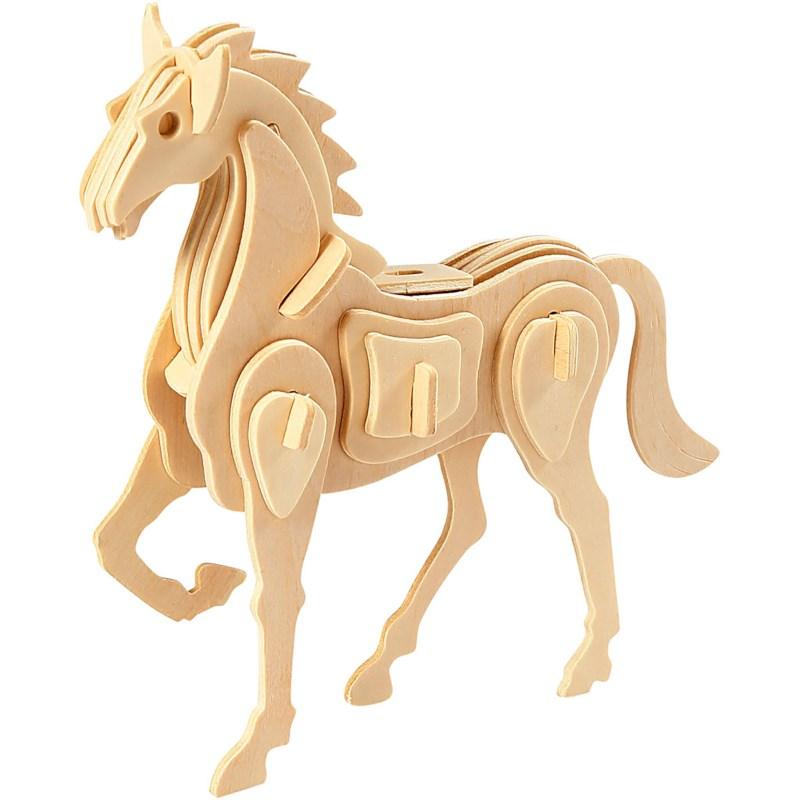 Bouwpakket 3D | Paard | Triplex | 18 x 4,5 x 16 cm