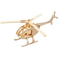 3D puzzel | Helicopter | Triplex | 26,5 x 14 x 26 cm