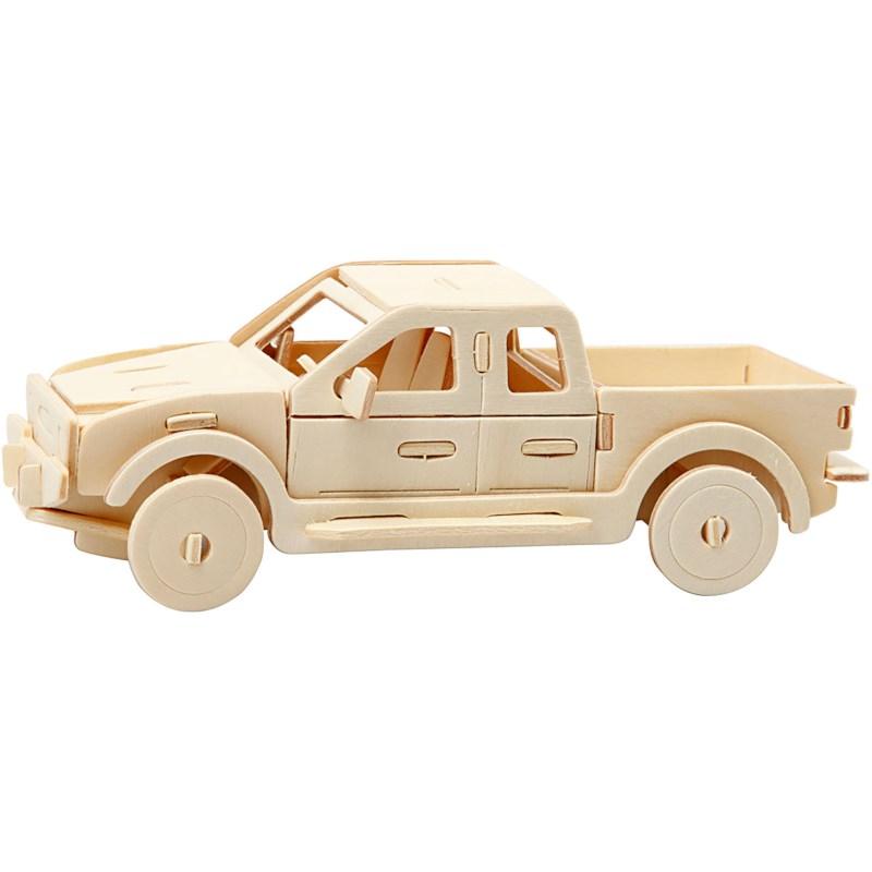 Bouwpakket 3D | Auto | Triplex | 13 x 9 x 6 cm
