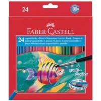 Aquarelpotloden   Faber Castell   Doos 24 stuks   Inclusief penseel