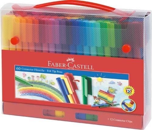 Viltstiften | Faber Castell | Connector | Set 60 stuks