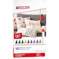 Textielstift | Edding 4600 | Set à 10 assorti