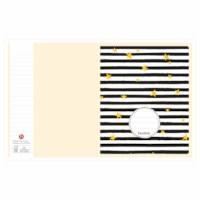 Schrift - geel fantasie (budget) | Heutink | Liniatuur 24 lijnen | Per stuk