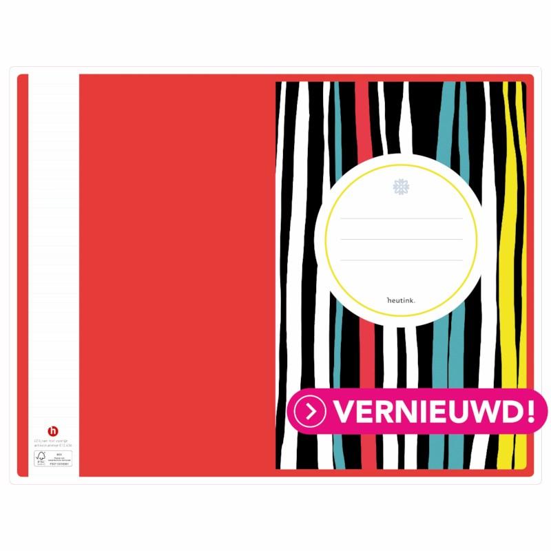 Schrift - kleurstrepen   Heutink   Liniatuur 42 lijnen   Per stuk