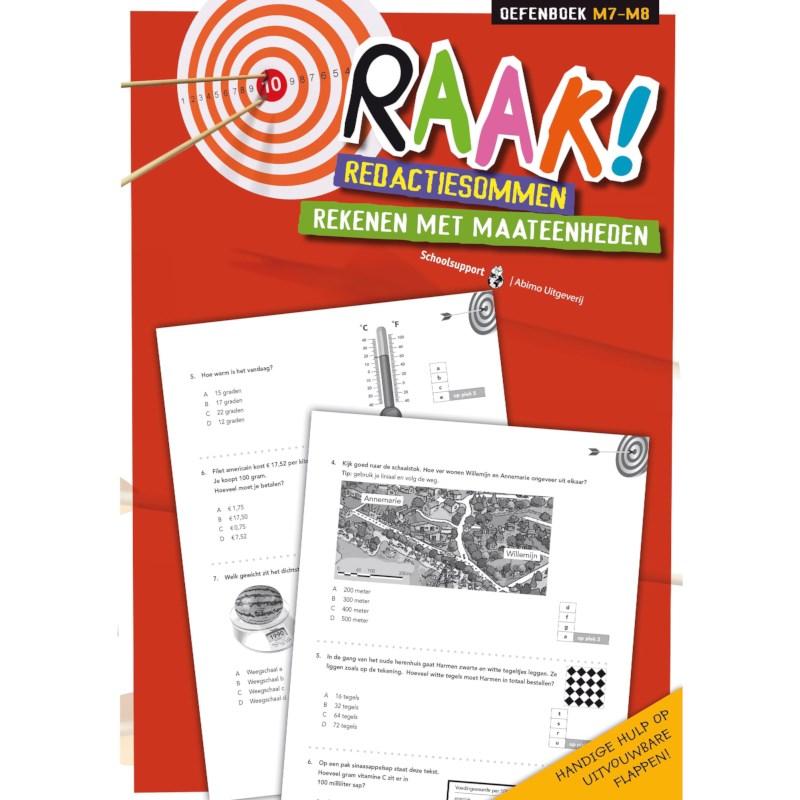 Raak! Redactiesommen | Rekenen met maateenheden | Groep 7-8
