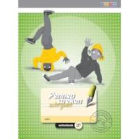 Oefenboek 3B blokschrift, Pennenstreken