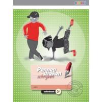Oefenboek 3C blokschrift, Pennenstreken