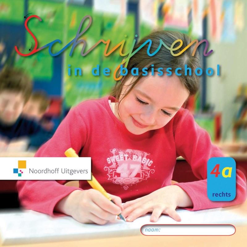 Schrijfschrift 4A rechtshellend, Schrijven in de basisschool