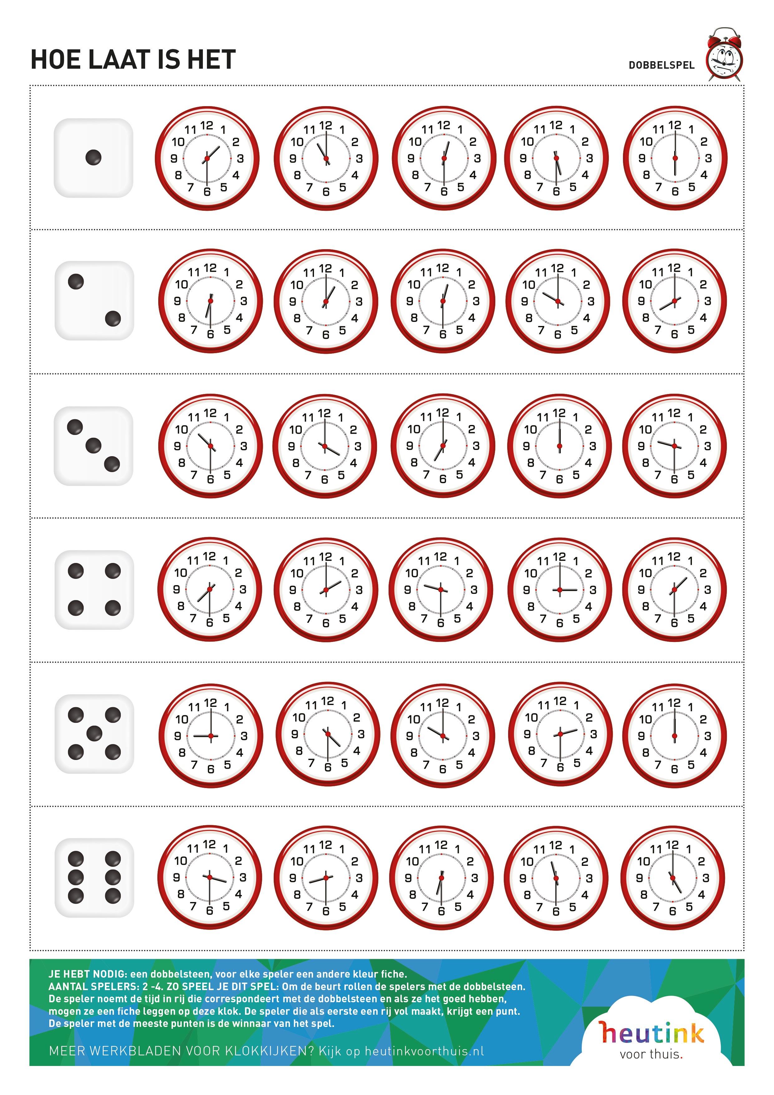 Beste Gratis spellentips voor leren klokkijken PC-12