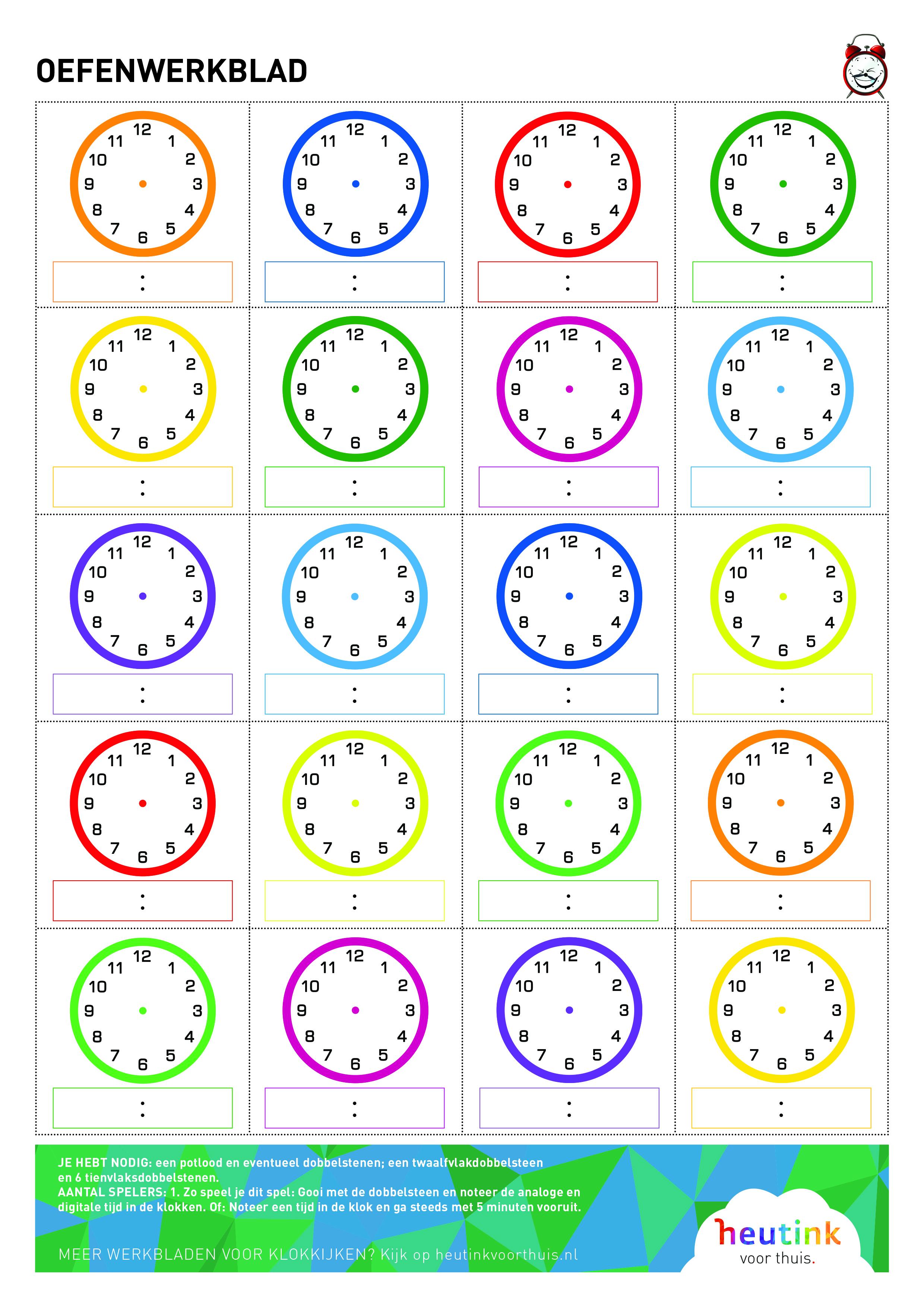 Fabulous Gratis spellentips voor leren klokkijken #LJ68