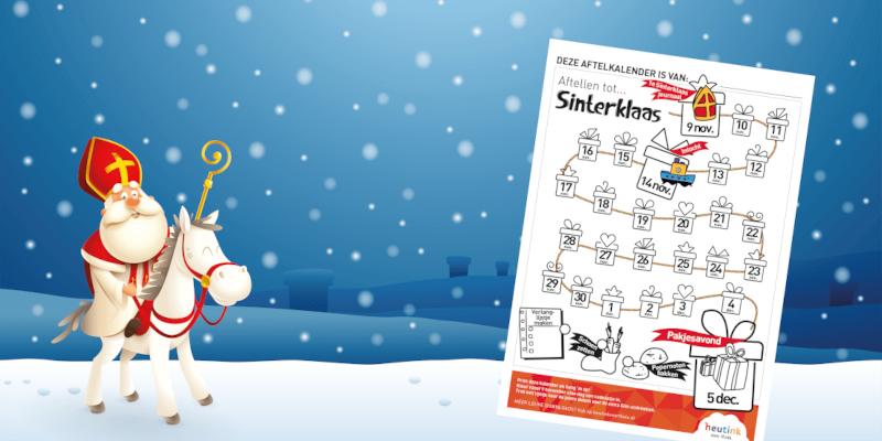 Gratis aftelkalender voor Sinterklaas