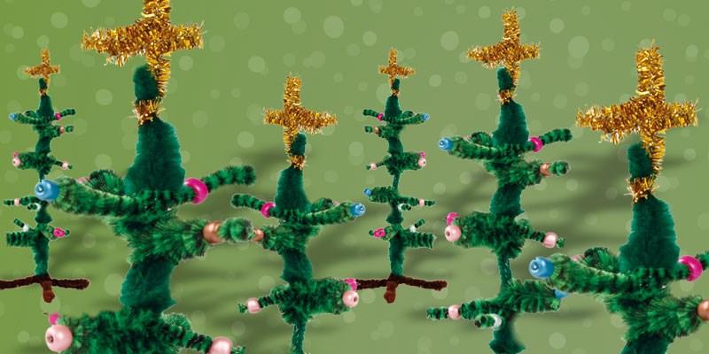 Knutseltip kerst: creatief kerstboompje