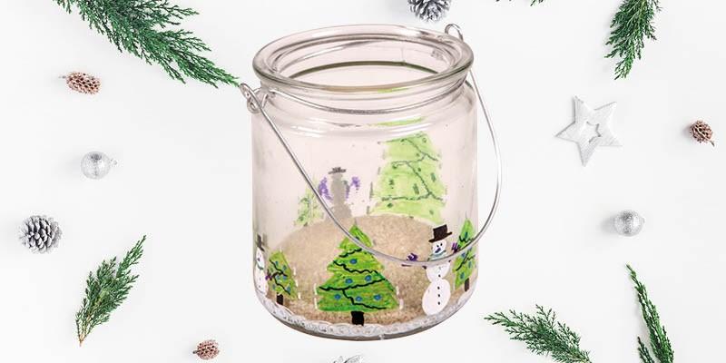 Knutseltip kerst: winters kerstlichtje