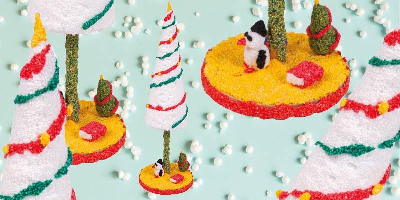 Knutseltip kerst: kleurrijke kerstboompjes