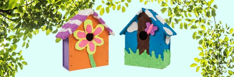 Knutseltip: vrolijke vogelhuisjes