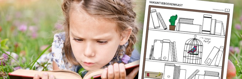 Vakantielezen-doeblad: Kleur je boekenkast vol