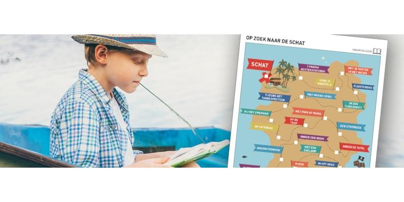 Vakantielezen-doeblad: Op zoek naar de schat