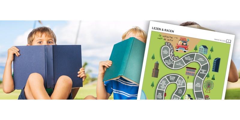 Vakantielezen-doeblad: Lezen en racen