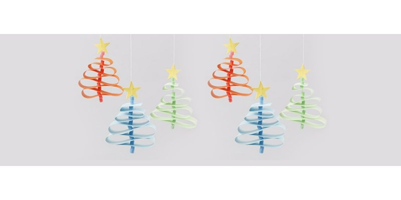 Kerstknutseltip: kerstbomen van papier