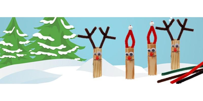 Kerstknutseltip: kerstfiguren van wasknijpers