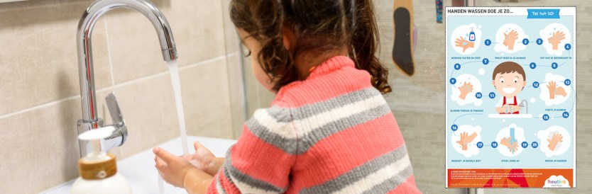Handige poster om kinderen te leren handen wassen