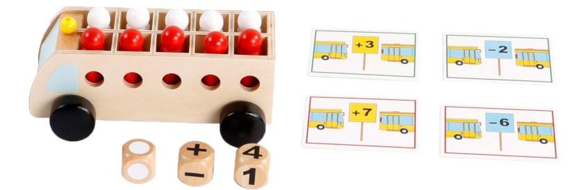 Rekenbus: tellen en rekenen met passagiers