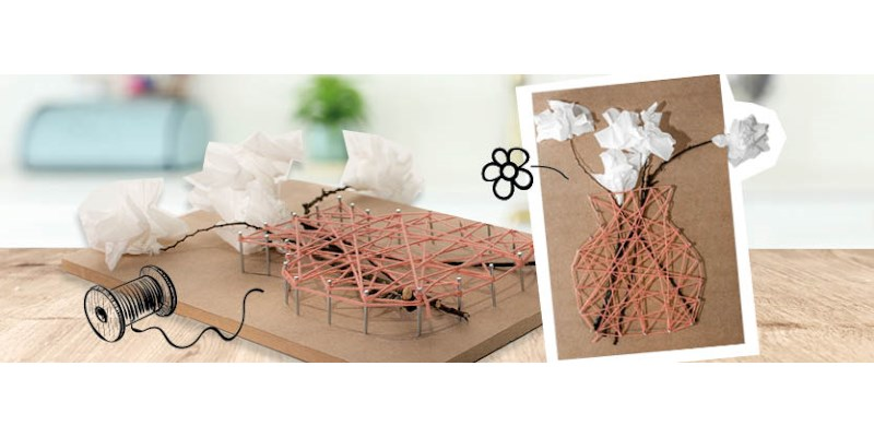 Knutseltip: bloemen voor aan de muur