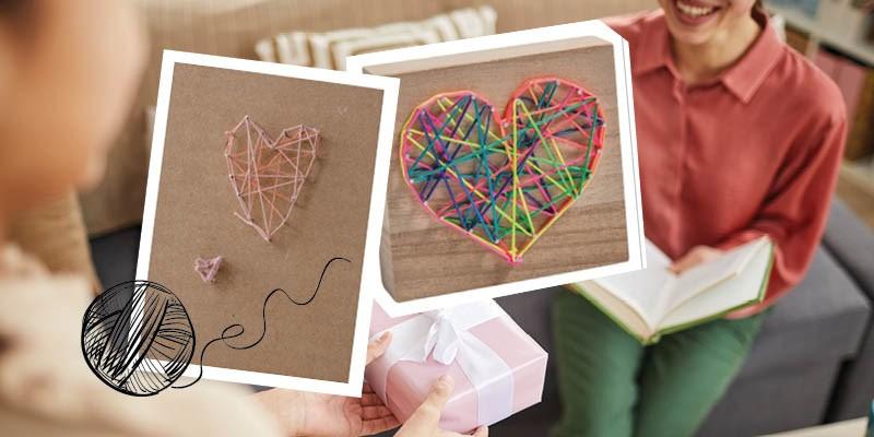Knutseltip: een hart van draad en spijkertjes